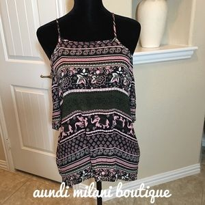 Tops - Cold Shoulder Tank Top